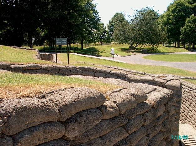 Trench entrance at Vimy Ridge