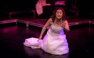 Ruth Wong-Miller as Amy in Company. Photo credit Nanc Price.